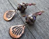 Purple Wings - Earrings