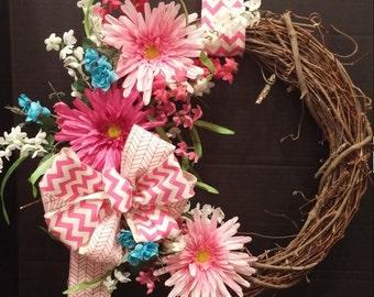 Beautiful Spring/Summer Wreath