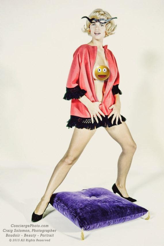 Vintage Mature 1960s Risque 10x10 Photograph Woman Mercury