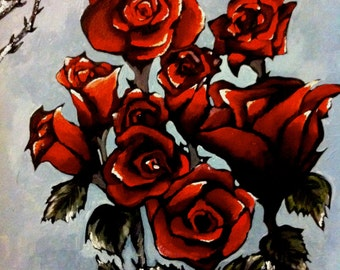 "ORIGINAL(18x24) ""Roses & Thorns"""