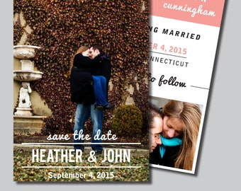 Save the Date photo cards, DIY Printable PDF
