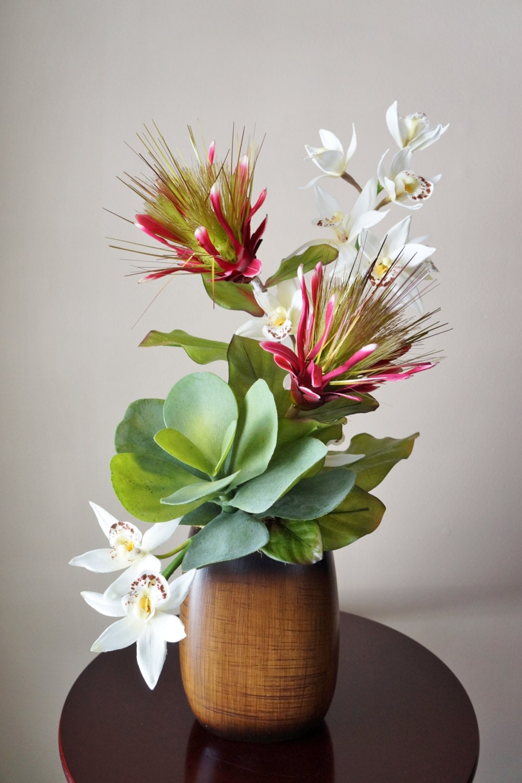 Silk Flower Arrangement Tropical Flower Arrangement With