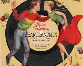 1950's Record Mistle Toe Vintage Christmas Image