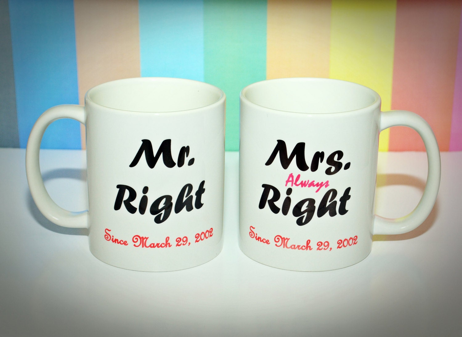 Wedding Gift Coffee Mugs : Wedding Gift Coffee Mug Set Set of Two Coffee by DaisyChainOnline