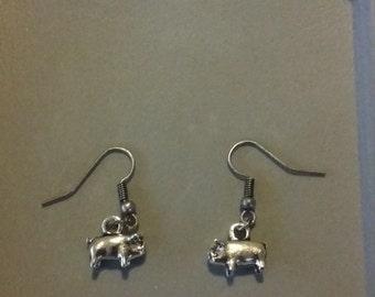 Handmade Pig Earrings
