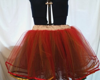 Rainbow Tulle Layered Petticoat