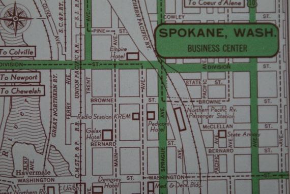 Street map Spokane Washington pdf