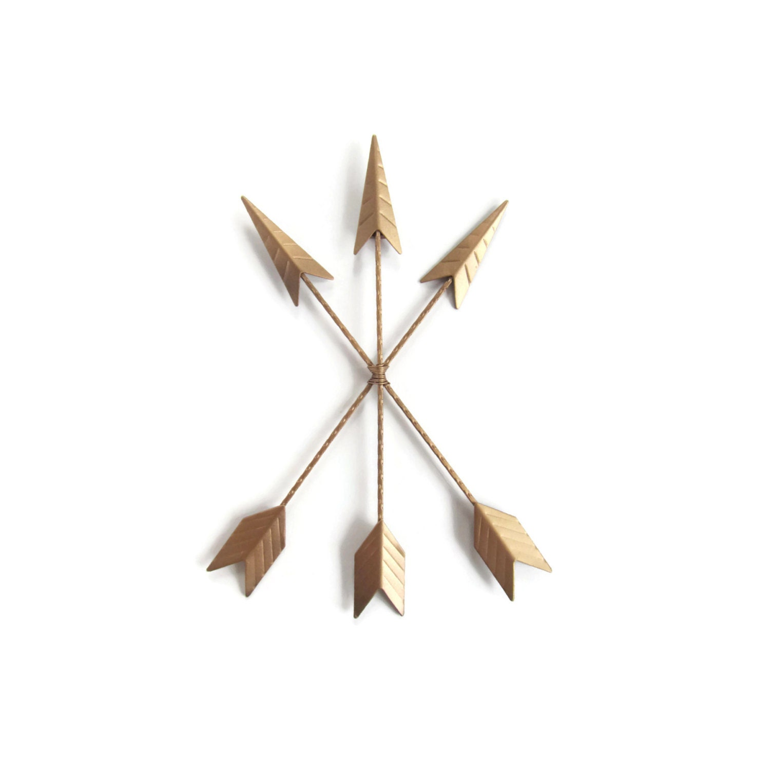 Gold Arrow Wall Decor : Gold arrow wall hanging art home decor