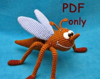 Mosquito, crochet toy, amigurumi, PDF pattern