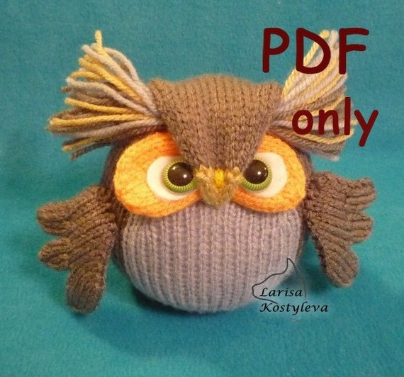 Wise Owl,knitting amigurumi,PDF pattern