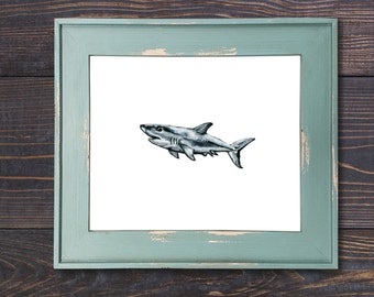 Shark Wall Art shark wall decor | etsy