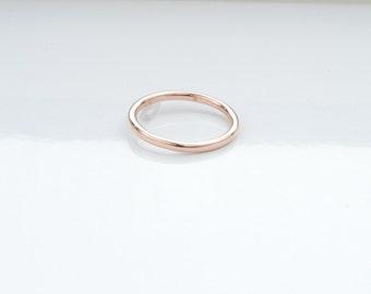 plain rose gold wedding band womens gold wedding ring 14k stacking ring thin