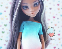 Monster! Handmade! Doll clothes — T-shirt with color gradient for dolls.