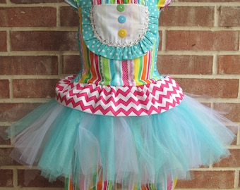 Boutique custom handmade pageant girls Carnival Tutu Birthday Circus outfit
