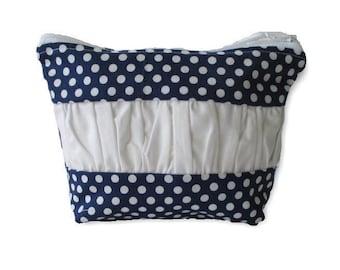 Zip Pouch   Cosmetic Bag   Toiletry Organiser  Travel Bag  medium Zip Pouch   cosmetic case