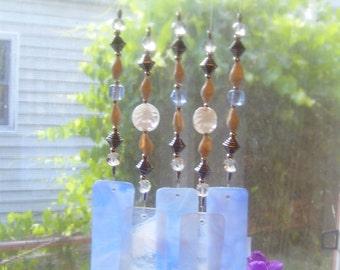 Bearcreek Windchimes-Jewelry For Your Home. Glass, beads, wood. One of a kind. Handmade.