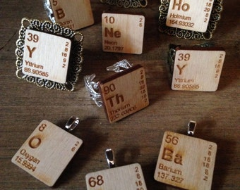 Periodic Table Geeky Rings/Pendants