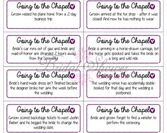 Going to the Chapel Bridal Shower Game PLUM -Fun, Detailed, & Cute!