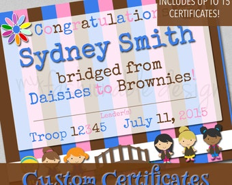 Bridging Certificates - Customized - Print Your Own