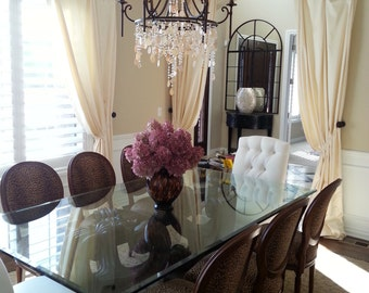custom ARCHED CURTAIN PANELS (your fabric,my lining)