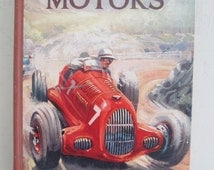 Fabulous 1930s WONDER BOOK of MOTORING~Wonderful illustrations ~A lovely nostalgic display and fascinating read