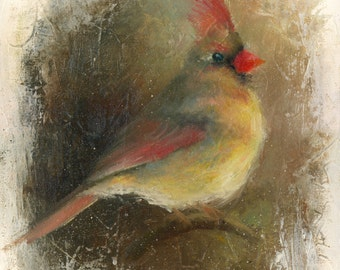 """ORIGINAL Oil Painting, Bird, 16""""x12"""", Oil Painting on Stretched Canvas, Fine Art, unframed"""