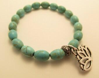 3827 - Turquoise Yoga Bracelet
