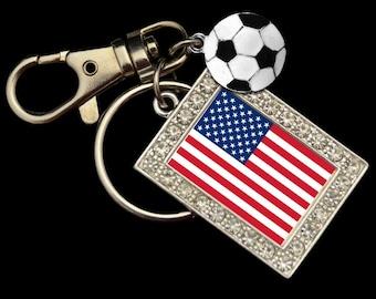 United States Soccer Keychain