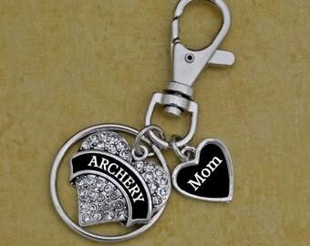 Custom Loved One Archery Keychain