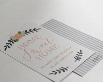 Home Sweet Home Moving Address Change Card-FREE SHIPPING or DIY printable