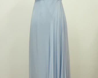 1960s Empire waist chiffon dress with embroidered corsage, vintage