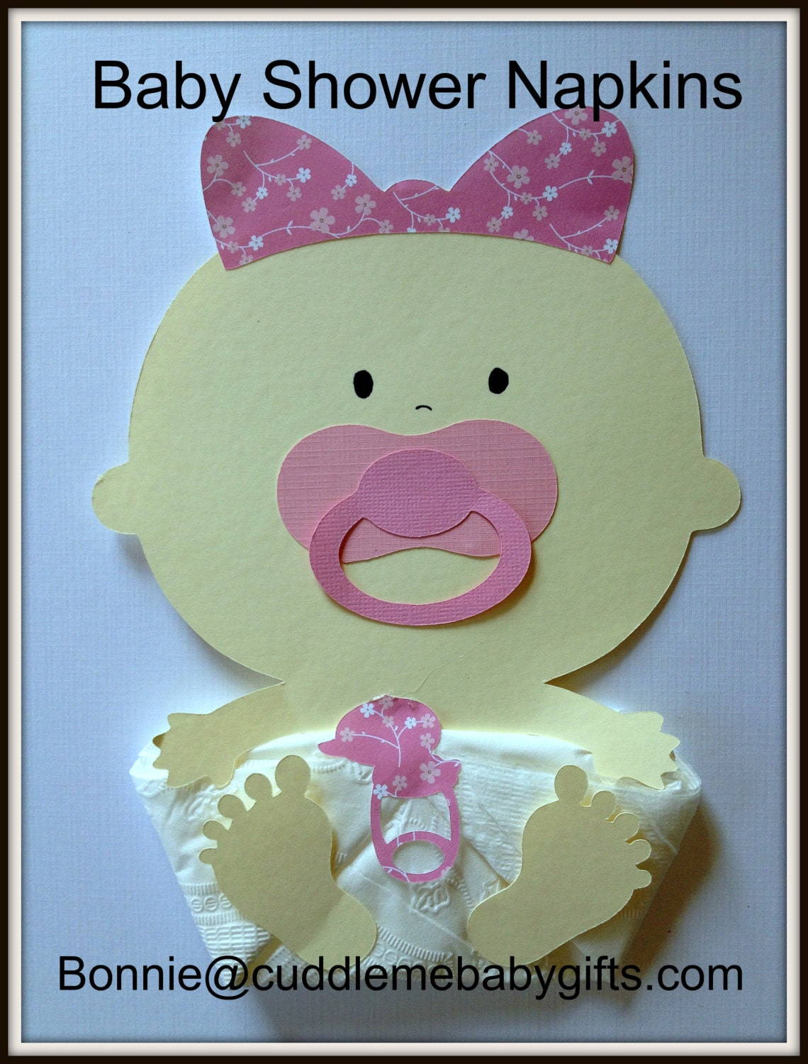 baby shower napkins baby girl baby shower decorations baby