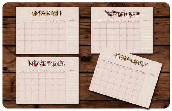 digital monthly calendar
