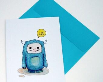 Hi Blue Monster Notecard