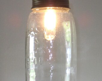 Lighting- Mason Jar Pendant Light- mason Jar lighting- rustic lighting- industrial lighting- pendant lighting- farmhouse