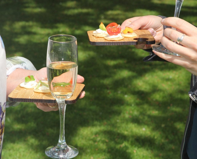 Canapes and wine glass holder our wibble bord for wine and for Canape holders