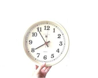 Retro Intertime Wall Clock / Made in Ireland