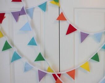 Rainbow Felt Bunting - Customizable