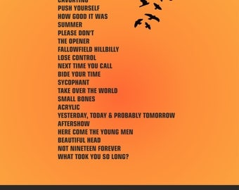 The Courteeners - Heaton Park Manchester 5th June 2015 - Set List Poster