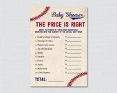 Baseball Baby Shower Pric...