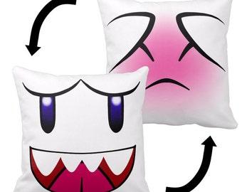 Reversible Boo Pillow - Super Mario Bros.