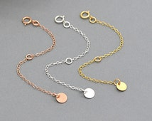 Extension Chain, Extender Chain, 14k Gold Filled, Sterling Silver, Rose Gold Filled Chain Extenders for Necklace or Bracelet