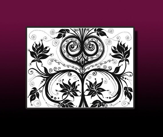 Gothic Wall Decor instant download art gothic wall decor tattoo tribal art