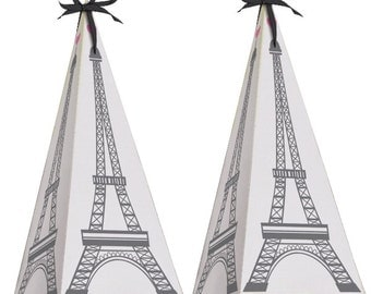 Vive La France Favor Boxes/ Paris theme/ paris favor boxes/ favor box / Paris / Eiffel tower boxes