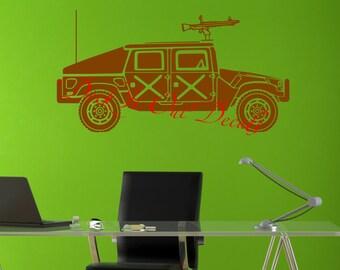 Military Humvee/hummer vinyl wall decal.... E00126