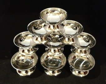 Set of 12 Stainless Steel Ice Cream or Sherbet or Dessert Cups