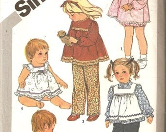 VINTAGE Simplicity Sewing Pattern 5733 - Children's Clothes, sundress, pinafore, pants - Size 2