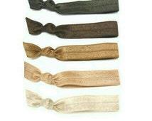 Brown Ombre Hair Ties Set