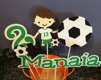 Five Piece Boy Soccer Centerpiece