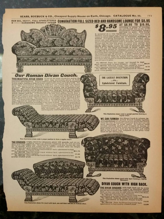 Items similar to victorian couches divan lounge for Victorian divan